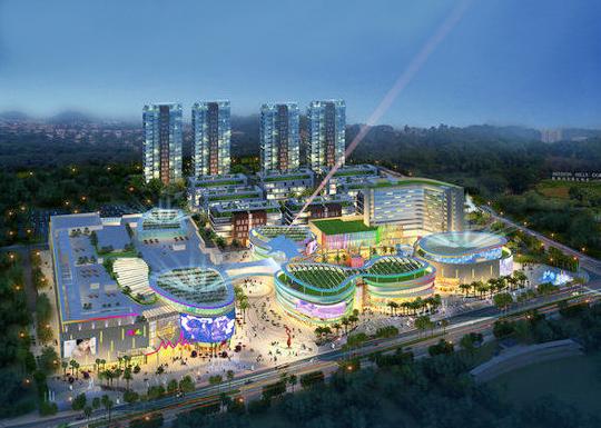 深圳观澜湖新城 shoppingmall
